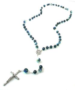 Classic James Cobalt Swarovski Rosary