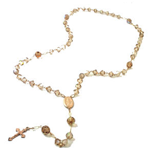 Gabrielle Golden Swarovski Crystal Rosary