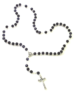 Regal Amethyst Crystal Rosary