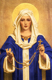 The Virgin Mary with the Rosary