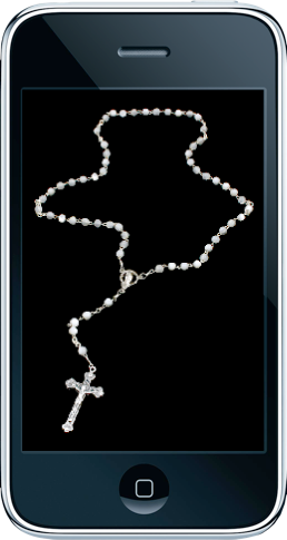 iPhone with Rosary