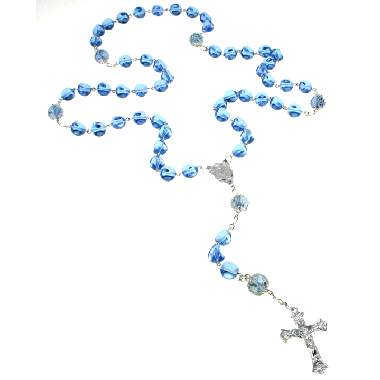 Stunning Blue Madonna Rosary